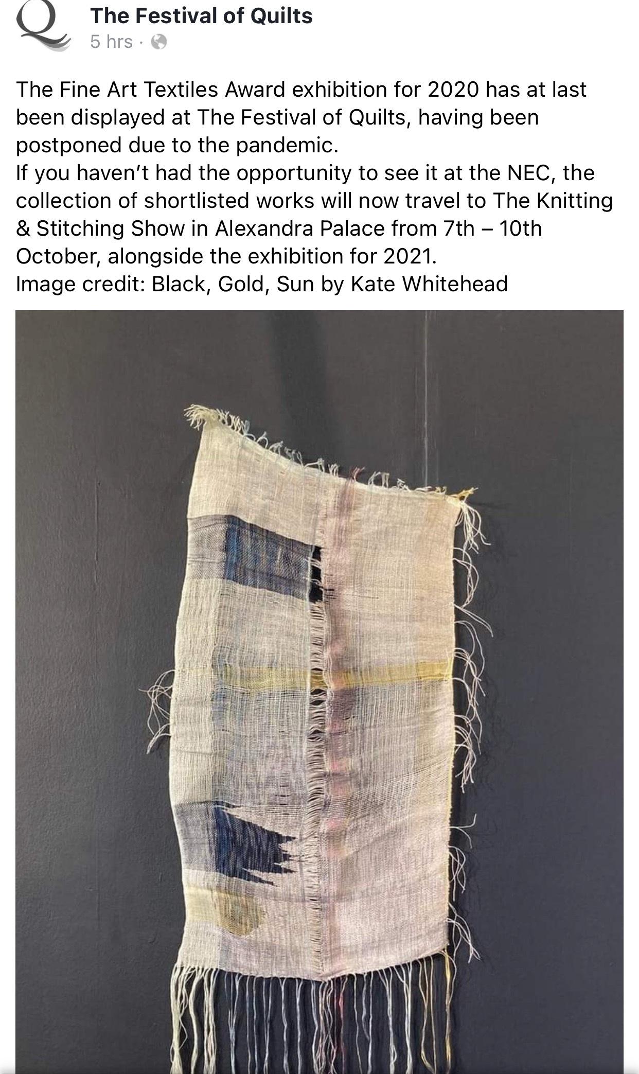 The Fine Art Textiles Exhibition 2020 & 2021